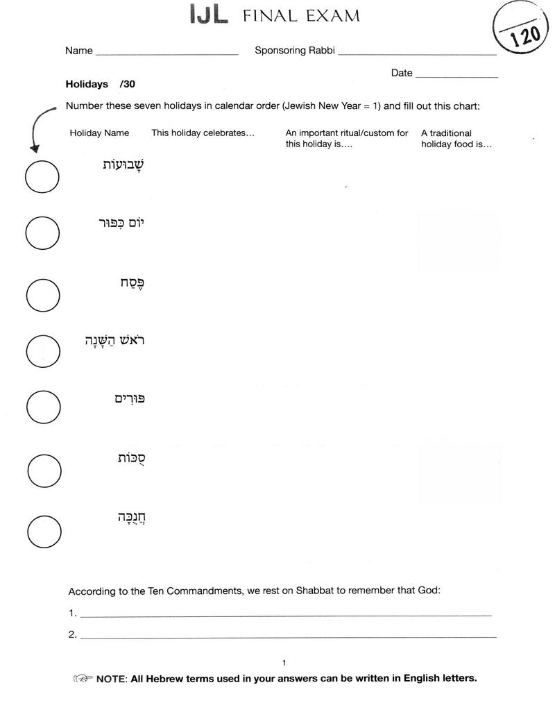 JIC Exam